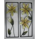 "Wall decorative ""flowers"", set of 2"