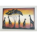 "Metallic wall decorative ""savanna"""