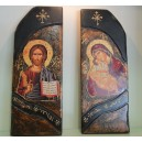 "Wooden icon ""cut"" large"