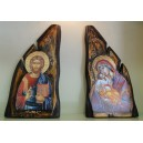 "Wooden icon ""flame"" large"