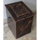Κουτί αποθήκευσης καυσόξυλων μεσαίο, με καπάκι