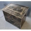 Κουτί αποθήκευσης καυσόξυλων μεγάλο, με καπάκι