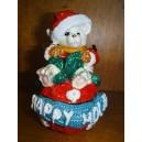 """Χριστουγεννιάτικο κουτάκι """"αρκουδάκι"""""""