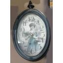 Ρολόι τοίχου, μεταλλικό, vintage