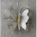 "Metallic, handmade, wall decorative ""butterfly"" small"