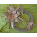 "Metallic, handmade, wreath ""flower-butterfly"""