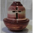"Ceramic oil-lamp ""boat"" stripy"
