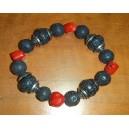 Lava-coral bracelet