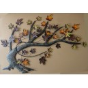 "Wall decorative ""branch"" aslant"