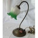 Φωτιστικό επιτραπέζιο, χειροποίητο γυαλί, πράσινο