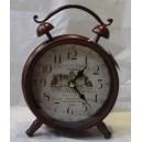 Ρολόι επιτραπέζιο μεταλλικό, μπορντό
