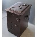 Κουτί αποθήκευσης καυσόξυλων με καπάκι, μικρό
