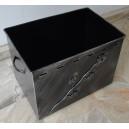 Κουτί αποθήκευσης καυσόξυλων ανοιχτό, μεγάλο