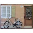 """Διακοσμητικό τοίχου """"ποδήλατο-βερυκοκί τοίχος"""""""