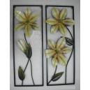 """Διακοσμητικό τοίχου """"λουλούδια"""", σετ 2 τεμ."""