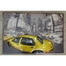 """Διακοσμητικό τοίχου """"κίτρινο ταξί"""""""