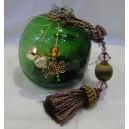 Ρόδι πράσινο φυσαλίδες, γυάλινο, χειροποίητο