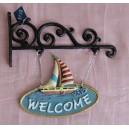 """Μαντεμένιο κρεμαστάρι """"καράβι-welcome"""""""