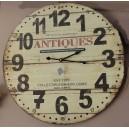 """Ρολόι τοίχου, ξύλινο, """"antiques"""""""
