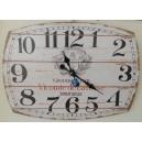 Ρολόι τοίχου, ξύλινο, μπεζ, οβάλ