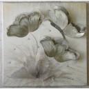 """Πίνακας-σύνθεση από μέταλλο και τεχνόδερμα """"ανεμώνη"""""""
