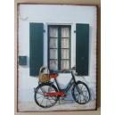 """Διακοσμητικό τοίχου """"Ποδήλατο-μπλε παράθυρο"""""""