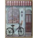 """Διακοσμητικό τοίχου """"ποδήλατο-ρετρό κατάστημα"""""""