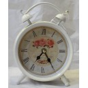 Ρολόι επιτραπέζιο μεταλλικό, λευκό