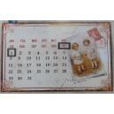 Ημερολόγιο-πινακίδα μεταλλική, τοίχου