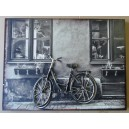 """Διακοσμητικό τοίχου """"ποδήλατο-ασπρόμαυρο"""""""