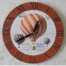 """Ρολόι τοίχου, ξύλινο """"αερόστατα"""""""